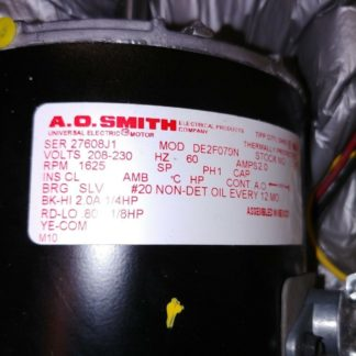 AO Smith 1/4-1/8 HP Permanent Split Capacitor, double shaft motor 1625 rpm