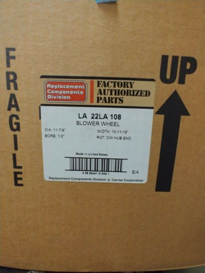 Carrier Products 11 7-8 X 10 11-16 Cw Wheel OEM LA22LA108
