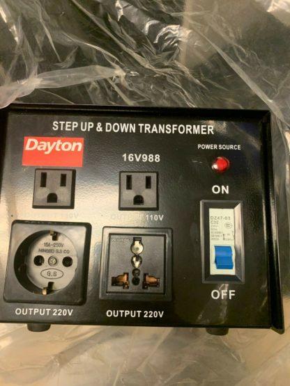 Dayton 3,000 Watt Step Up Down Transformer 16V988B