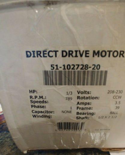 Protech 1-3 hr Ecm Motor - Outdoor OEM 51-102728-20
