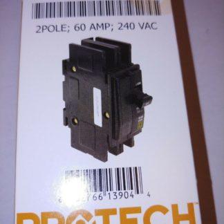 Protech Circuit Breaker 42-23201-01 2 Pole 60 Amp 240 Vac 10 Ka Square D