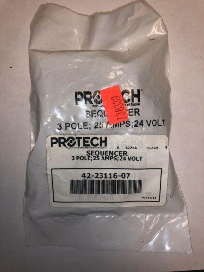 Protech Rheem 42-23116-07 Sequencer 3 Pole 25Amp 24Volt