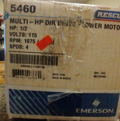 Rescue 5460 1-2HP 1075 rpm 4 spd Multi-HP Direct Drive Blower Motor