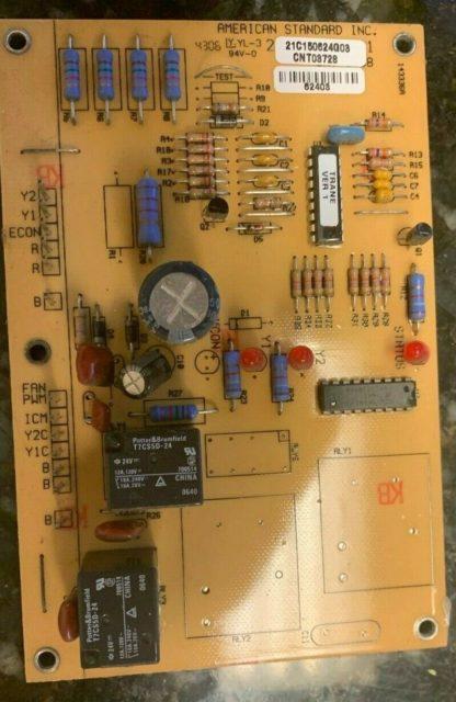 AMERICAN STANDARD HVAC CONTROL BOARD 21C150624G08 CNT08728