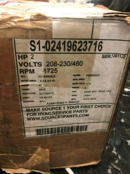 OEM York Luxaire Coleman Blower Motor 2 HP S1-02419623716 024-19623-716