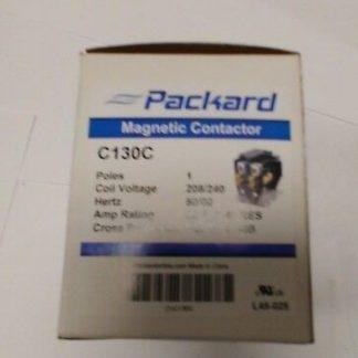 Packard C130A 30 AMP 24 VAC Single 1-Pole Definite Purpose Contactor HVAC