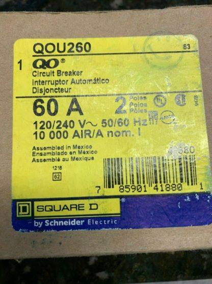 QOU260 RP Square D Circuit Breaker 60 Amp 2 Pole 120 240V