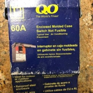 Square D Circuit Breaker with Enclosure QO200TR 60 A Amp 240 VAC New