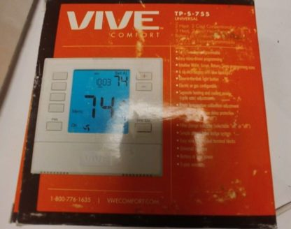 VIVE, 5+1+1 or Non-Pro Thermostat, 3H/2C Universal With 6 In. Display TP-S-755